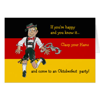 Oktoberfest Funny Cartoon Invitation Card