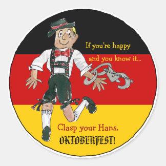 Oktoberfest Funny Sticker Personalized Labels