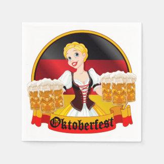 Oktoberfest German Bar Maid Paper Serviettes