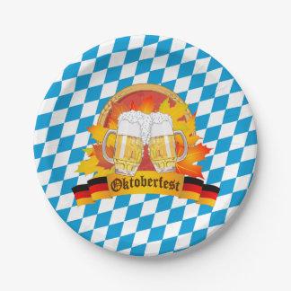 Oktoberfest German Beer Festival 7 Inch Paper Plate