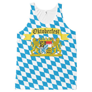 Oktoberfest German Bier Festival All-Over Print Tank Top