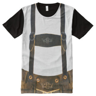 Oktoberfest German Lederhosen All-Over Print T-Shirt
