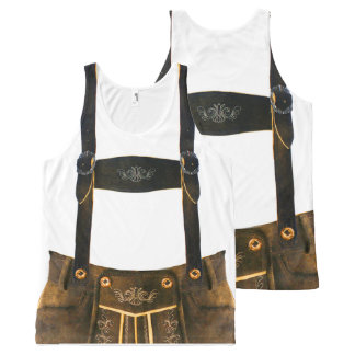 Oktoberfest German Lederhosen All-Over Print Tank Top