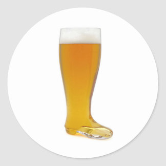 oktoberfest-glass-beer-boot round sticker