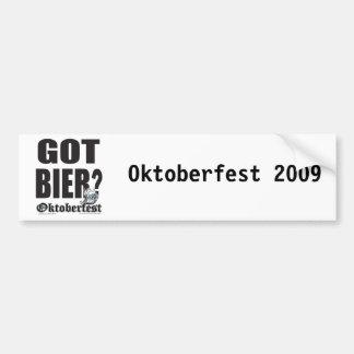 Oktoberfest Got Bier? Bumper Sticker