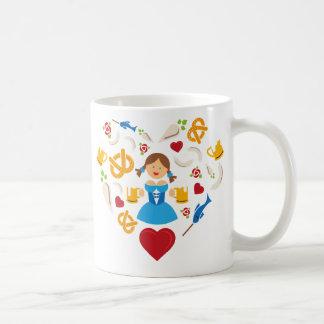 Oktoberfest heart coffee mug