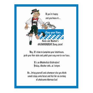 Oktoberfest Invitation Personalized Postcards