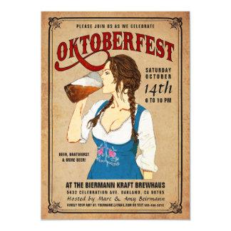 Oktoberfest Invitations Vintage Oktoberfest Woman