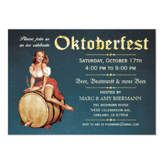 Oktoberfest Invitations (Vintage) v.2 (Blue)