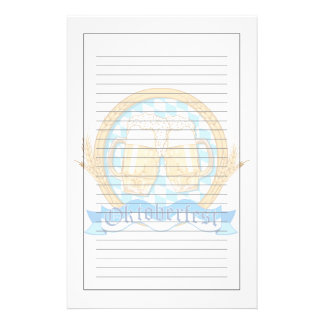 Oktoberfest Label Design With Beer Glasses Stationery