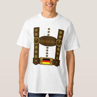 Oktoberfest Lederhosen Funny Add Name T-Shirt