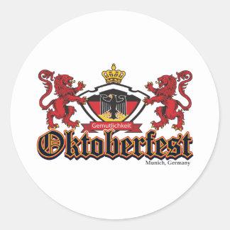 Oktoberfest Lions Round Sticker