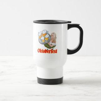 Oktoberfest Mädchen Stainless Steel Travel Mug