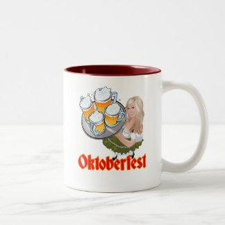 Oktoberfest Mädchen Two-Tone Mug