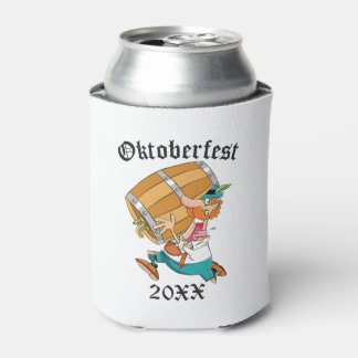Oktoberfest Man With Keg Can Cooler