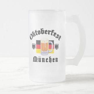 Oktoberfest Munchen Frosted Glass Beer Mug