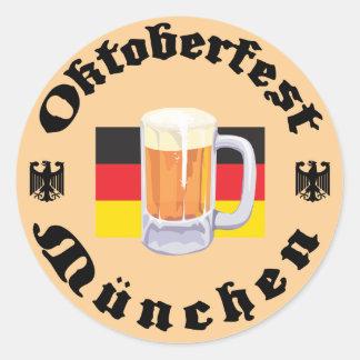 Oktoberfest Munchen Round Sticker