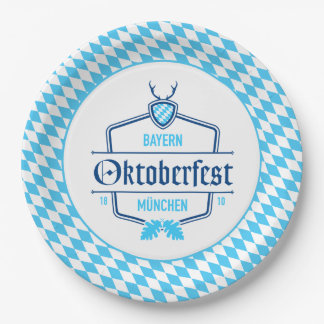 Oktoberfest Munich, Bavaria Paper Plate