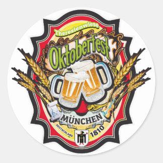 OKTOBERFEST MUNICH DEUTSCHLAND CLASSIC ROUND STICKER