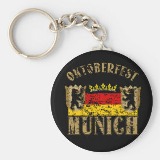 Oktoberfest Munich Distressed Look Design Key Ring