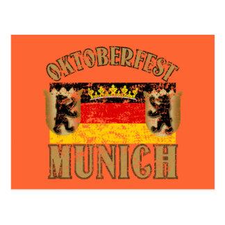 Oktoberfest Munich Distressed Look Design Postcard