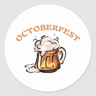 Oktoberfest Octoberfest Beer Mug Round Sticker
