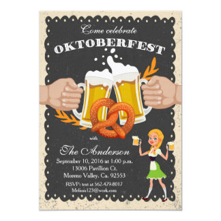 Oktoberfest/ Octoberfest Beer Party Invitation