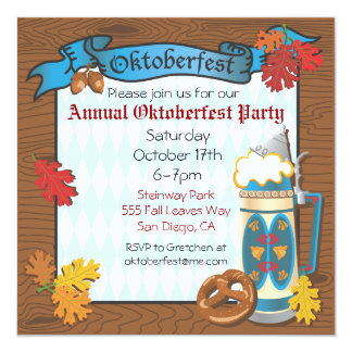 Oktoberfest Party Invitations