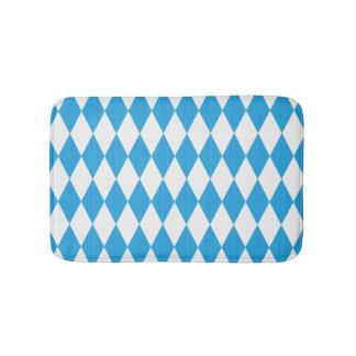Oktoberfest pattern with fabric texture bath mat