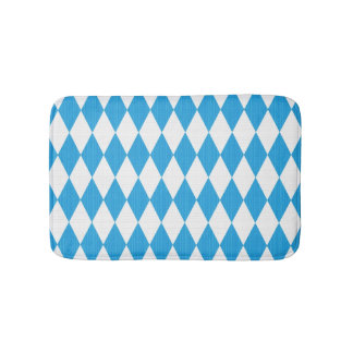 Oktoberfest pattern with fabric texture bath mats