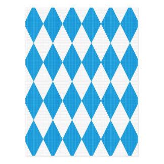 Oktoberfest pattern with fabric texture postcard