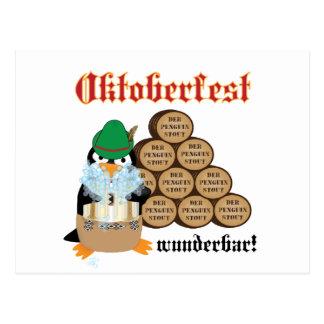 Oktoberfest Penguin Postcard