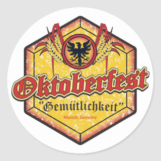 Oktoberfest - Pentagon Design Sticker