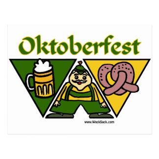 Oktoberfest Pretzel Postcard