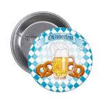Oktoberfest Pretzels & Beer 6 Cm Round Badge