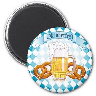 Oktoberfest Pretzels & Beer 6 Cm Round Magnet