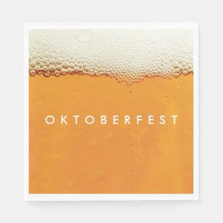 Oktoberfest. Real Beer Suds. Disposable Serviette