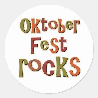 Oktoberfest Rocks Round Stickers