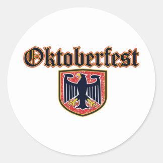 Oktoberfest Shield Round Sticker