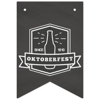 Oktoberfest Since 1810 on Chalkboard Bunting