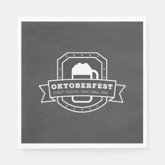Oktoberfest Street Festival on Chalkboard Paper Napkin