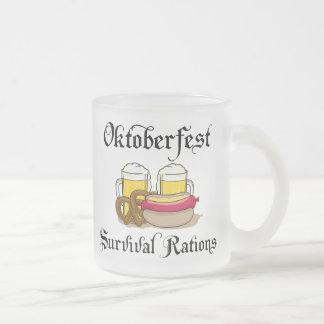 Oktoberfest Survival Rations T-Shirt Frosted Glass Mug