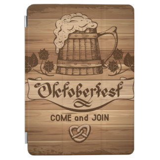 Oktoberfest, vintage poster with wooden iPad air cover