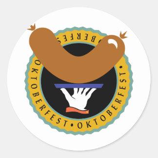 Oktoberfest Weiner Round Sticker