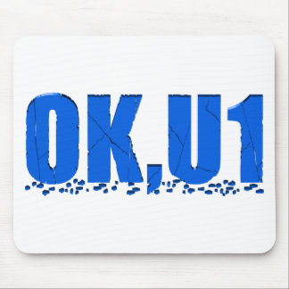 OKU1 in Blue Mouse Pad