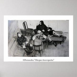 """Okupas desocupados"" Poster"