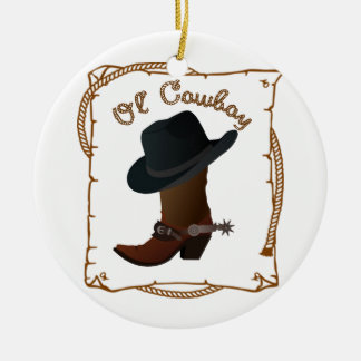 Ol' Cowboy Christmas Ornament