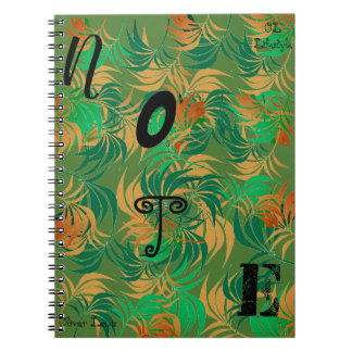 OL Lifestyle-Forest greens note book. Notebooks