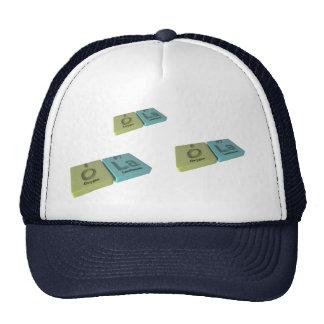 ola as Oxygen O  and Potassium K Mesh Hats