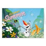 Olaf, Celebrate Summer Card